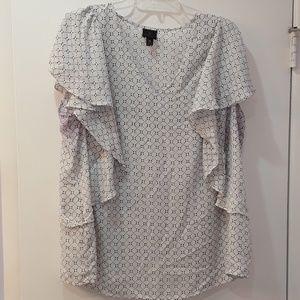 Worthington Short Sleeve Blouse 2X